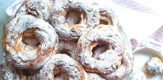 Заварные кольца с творожным кремом кулинарный рецепт