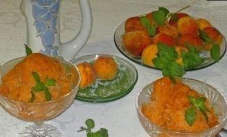 Абрикосовый сорбет с мятой кулинарный рецепт
