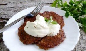 Баклажанные оладьи кулинарный рецепт