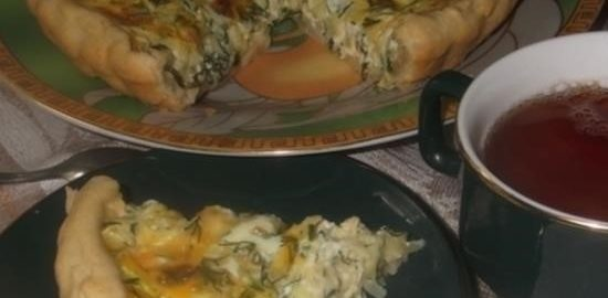 Киш с кабачком кулинарный рецепт