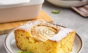 Кукурузный манник с яблоками рецепт шаг 6