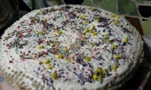 Летний вафельный тортик рецепт шаг 10