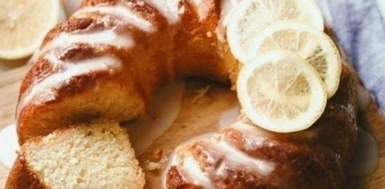 Лимонно-йогуртовый кекс с лимонной глазурью кулинарный рецепт