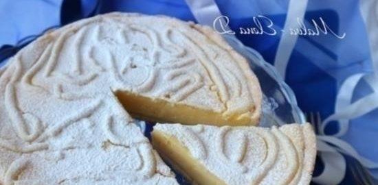 Лимонный пирог на желтках кулинарный рецепт