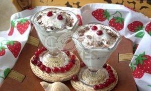 Молочное мороженое с клюквой и шоколадом рецепт шаг 15