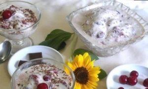 Мороженое с вишней и шоколадом кулинарный рецепт