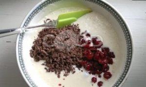 Мороженое с вишней и шоколадом рецепт шаг 4