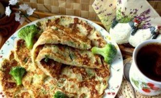 Овсяные блины с брокколи кулинарный рецепт