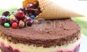 Шоколадный торт с вишней рецепт шаг 12