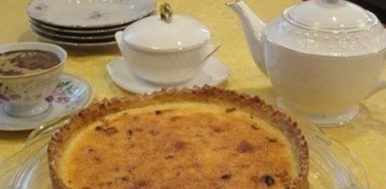 Сливочный пирог с финиками и кокосом кулинарный рецепт