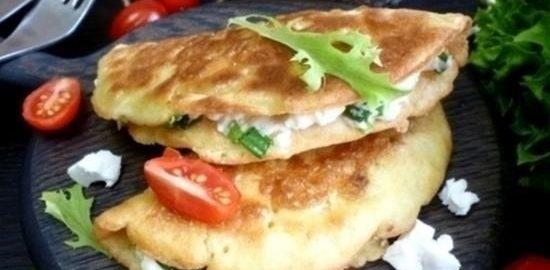 Сочни с брынзой и зеленым луком кулинарный рецепт