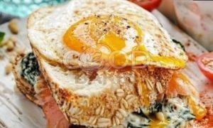 Сытный утренний сэндвич рецепт шаг 4