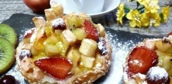 Теплые бутерброды с фруктово-ягодным компоте кулинарный рецепт