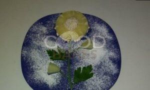 Цветок из ананаса и творога рецепт шаг 7