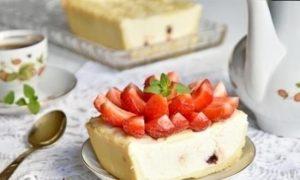 Творожный десерт с вяленой вишней кулинарный рецепт
