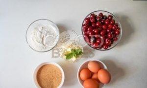 Вишневый пирог на растительном спреде рецепт шаг 1