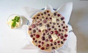 Вишневый пирог на растительном спреде рецепт шаг 6