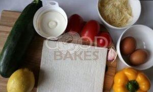 Закусочный тарт с цукини рецепт шаг 1
