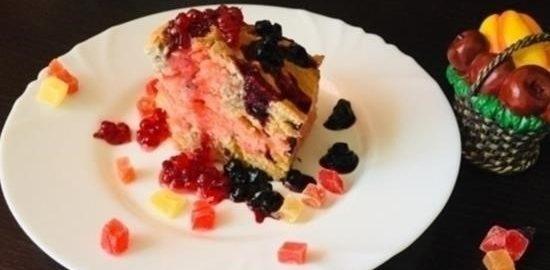 Бисквит на простокваше «Розовое настроение» кулинарный рецепт