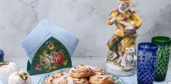 Булочки с яблоками кулинарный рецепт