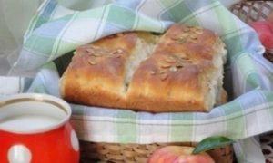 Хлеб с яблоками кулинарный рецепт