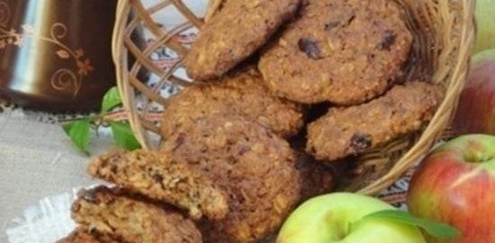 Овсяное печенье с изюмом и клюквой кулинарный рецепт