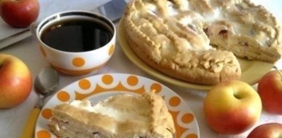 Песочный пирог со сметанной заливкой кулинарный рецепт