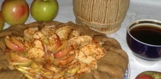 Ржаная галета с яблочно-ореховой начинкой кулинарный рецепт