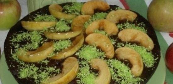 Шоколадно-яблочный пирог кулинарный рецепт