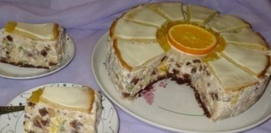 Торт «Ромашка» кулинарный рецепт