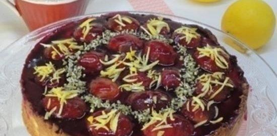 Творожный торт со сливами и лимоном кулинарный рецепт
