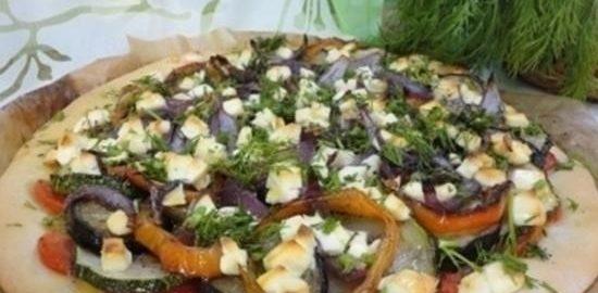 Вегетарианская пицца кулинарный рецепт