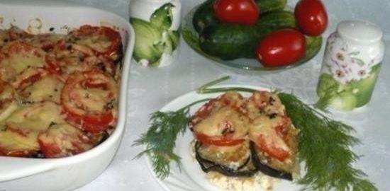Запеканка из картофеля и баклажанов кулинарный рецепт