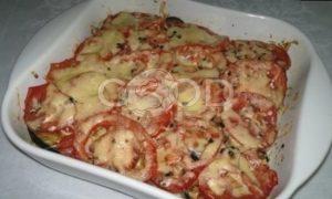Запеканка из картофеля и баклажанов рецепт шаг 16