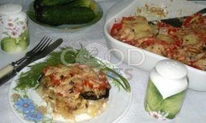 Запеканка из картофеля и баклажанов рецепт шаг 17