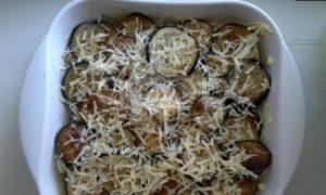 Запеканка из картофеля и баклажанов рецепт шаг 9