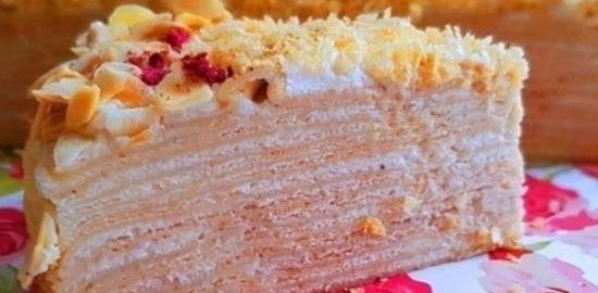 Блинный торт с кремом «Пломбир» кулинарный рецепт