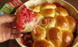 Булочки с заварным кремом на малиново-яблочной подушке рецепт шаг 21