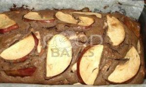 Черемуховый кекс с яблоками рецепт шаг 10