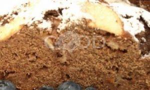 Черемуховый кекс с яблоками рецепт шаг 12