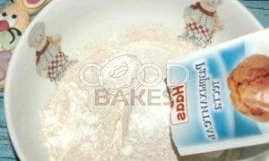 Черемуховый кекс с яблоками рецепт шаг 5