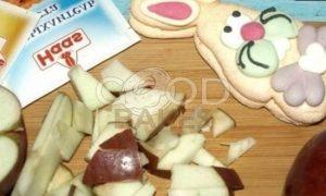 Черемуховый кекс с яблоками рецепт шаг 7