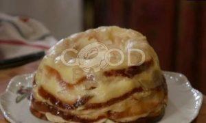 Яблочный тимбаль со сливочным кремом рецепт шаг 8