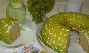Кекс с виноградом кулинарный рецепт