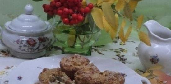 Кексы из овсяных отрубей с яблоками кулинарный рецепт