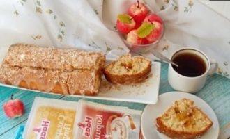 Кокосовый кекс с карамельными яблоками кулинарный рецепт