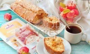 Кокосовый кекс с карамельными яблоками рецепт шаг 17