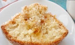 Кокосовый кекс с карамельными яблоками рецепт шаг 18