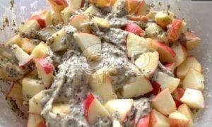 Маковый пирог с яблоками рецепт шаг 13