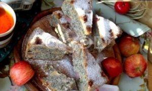 Маковый пирог с яблоками рецепт шаг 21